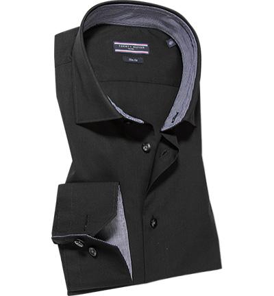 tommy hilfiger tailored hemd in schwarz. Black Bedroom Furniture Sets. Home Design Ideas