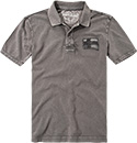 NAPAPIJRI Polo-Shirt dark grey solid N0YFXX198