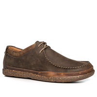 Clarks Trapell Pace dark brown lea