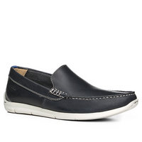 Clarks Karlock Lane navy leather