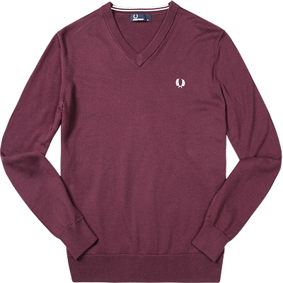 fred perry pullover in rot. Black Bedroom Furniture Sets. Home Design Ideas