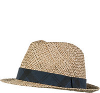 Barbour Tartan Trimmed Trilby natural