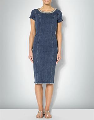 Damen Blau Kleid Liu Jo Mit Blumenborten m80wOvNn