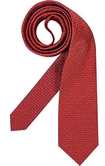 Artikel klicken und genauer betrachten! - Krawatte aus Seide von HUGO BOSS Bei dieser edlen und dezenten Krawatte wirkt das Webmuster erfrischend. Passt zu fast allen Anzügen und ist bei jeder Gelegenheit gerne gesehen. Krawatte in mattem Glanz. Krawattenbreite ca. 7,5 cm. Durchzugschlaufe auf der Unterseite mit Logo-Schriftzug. Innenfutter in Marineblau mit Label-Schriftzug. Hergestellt in Italien. Material: 100% Seide. Farbe/Dessin: Rot gemustert. Unsere Empfehlung: Kombinieren Sie dazu ein Hemd in klassischem Weiß, Schwarz oder Creme mit einem modischen Anzug in Schwarz oder Marineblau. | im Online Shop kaufen