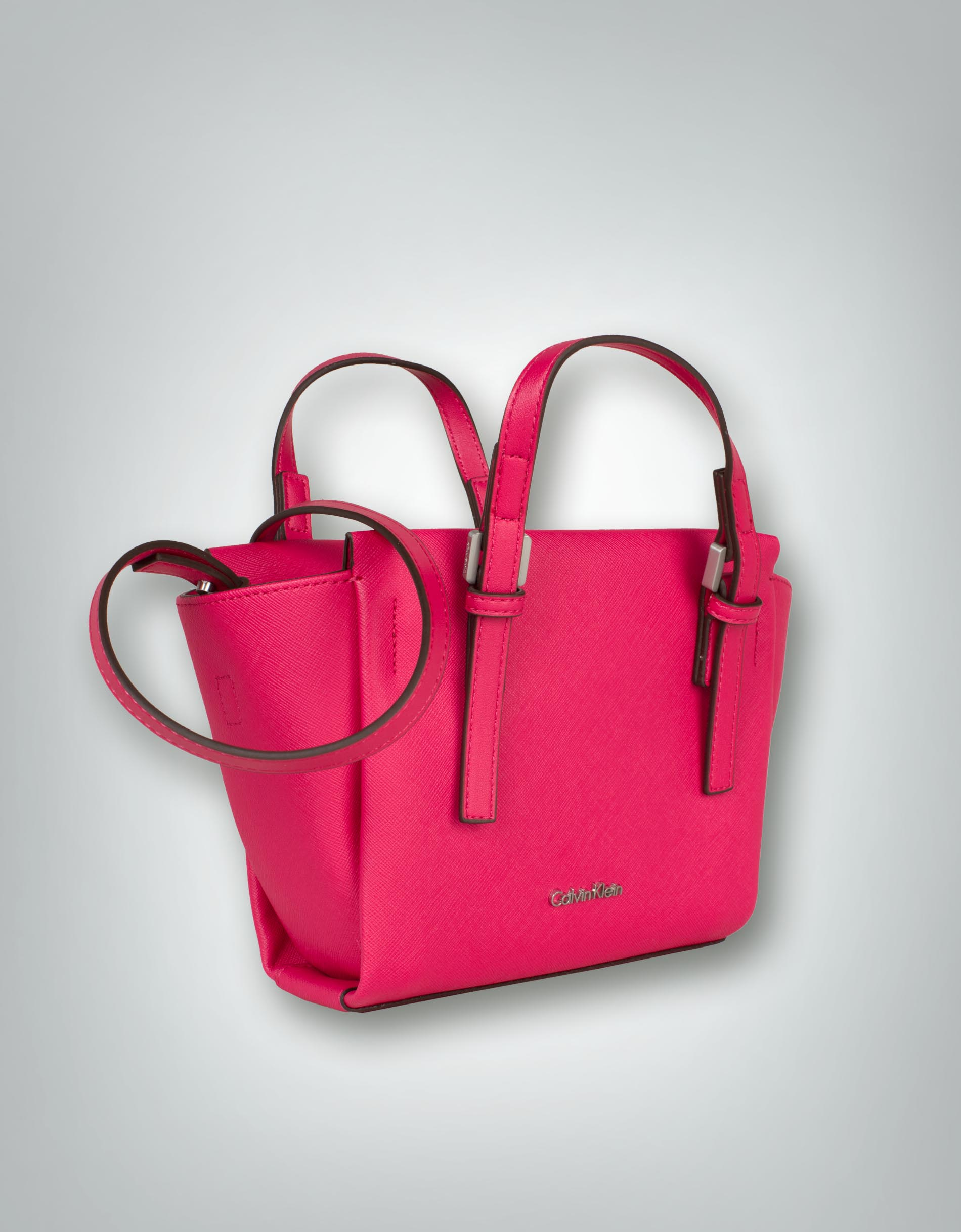 calvin klein damen tasche mini tote bag mit saffiano. Black Bedroom Furniture Sets. Home Design Ideas