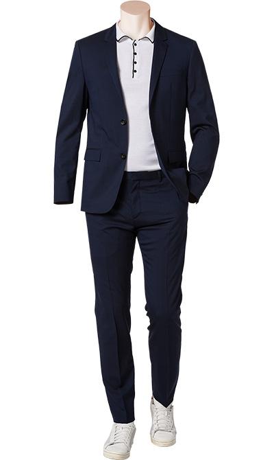 calvin klein anzug in blau. Black Bedroom Furniture Sets. Home Design Ideas