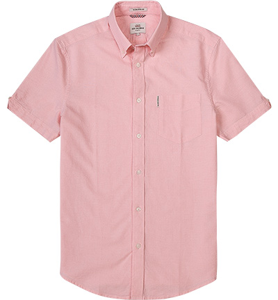 hemd b d pink oxford rosa wei meliert von ben sherman. Black Bedroom Furniture Sets. Home Design Ideas
