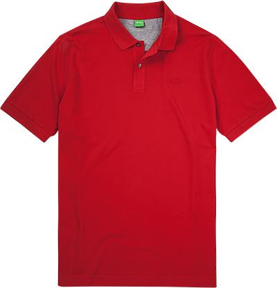 Artikel klicken und genauer betrachten! - Polo-Shirt aus Baumwoll-Piqué von BOSS Green Exzellente Baumwoll-Piqué-Qualität macht das Polo-Shirt zu einem idealen Begleiter für unkomplizierte Looks. Kontrastdetails am Kragen und an der Knopfleiste verleihen dem Modell eine sportive und modische Note. Modell: Birenze Details: Kurzarm Polo-Shirt, weit geschnitten Vorderteil: Knopfleiste mit 2 Knöpfen, Kragen aus Rippenstrick, mit Seitenschlitzen, mit Rippenstrickbündchen am Arm, gerader Saumabschluss Obermaterial: Piqué, 100 % Baumwolle Farbe: Rot Ma e: Bei Größe 3XL Rückenlänge ohne Kragen gemessen ca. 84 cm, Brustweite ca. 140 cm Besonderheiten: Seitenschlitze und Saum innen mit Kontrastmaterial verstärkt Label / Logo: Logostickerei auf Brusthöhe links | im Online Shop kaufen