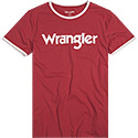 Wrangler T-Shirt red white W7A76FQ9S