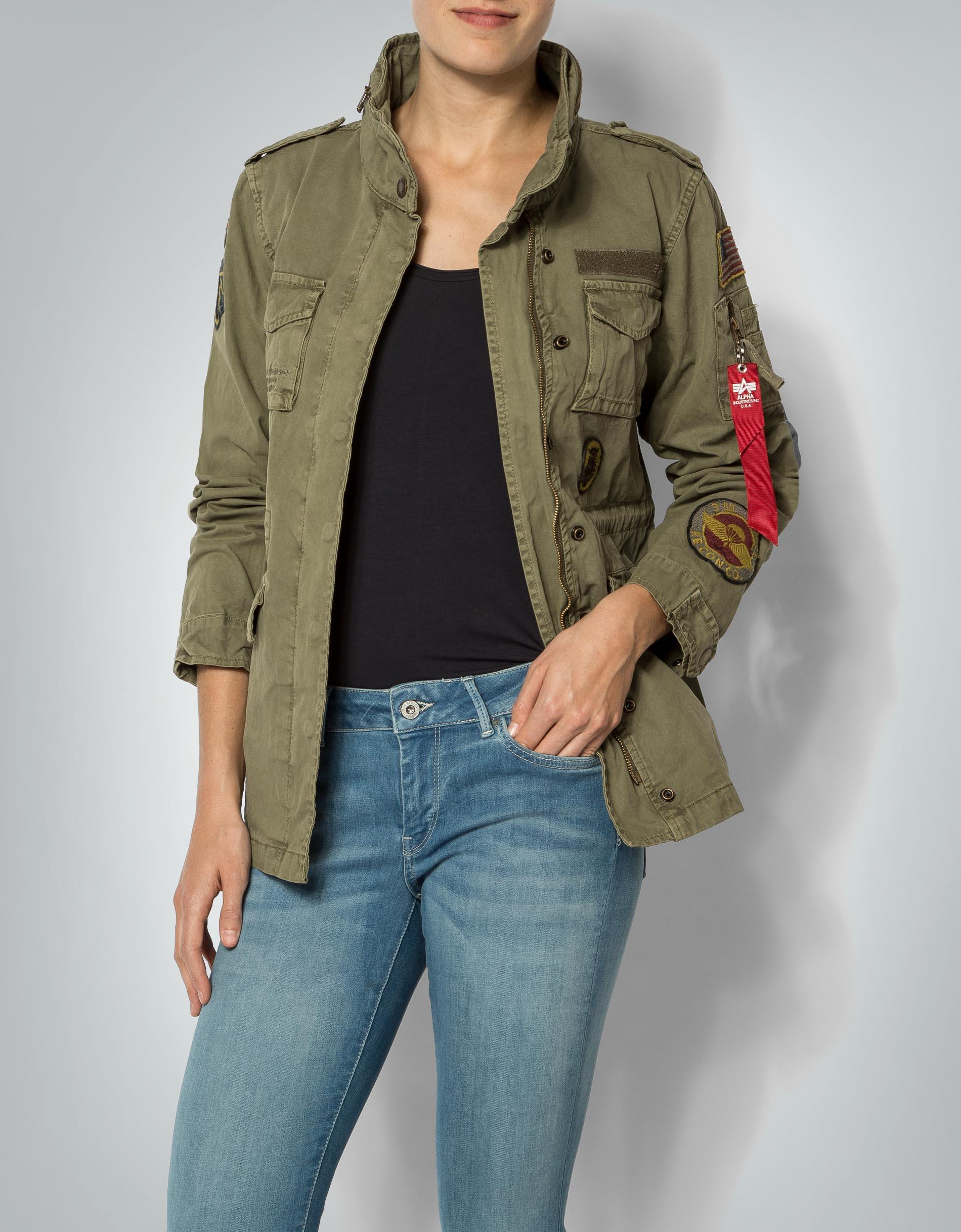 Damen jacke mit patches