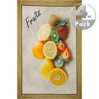 Geschirrtuch Fruits 4er Pack