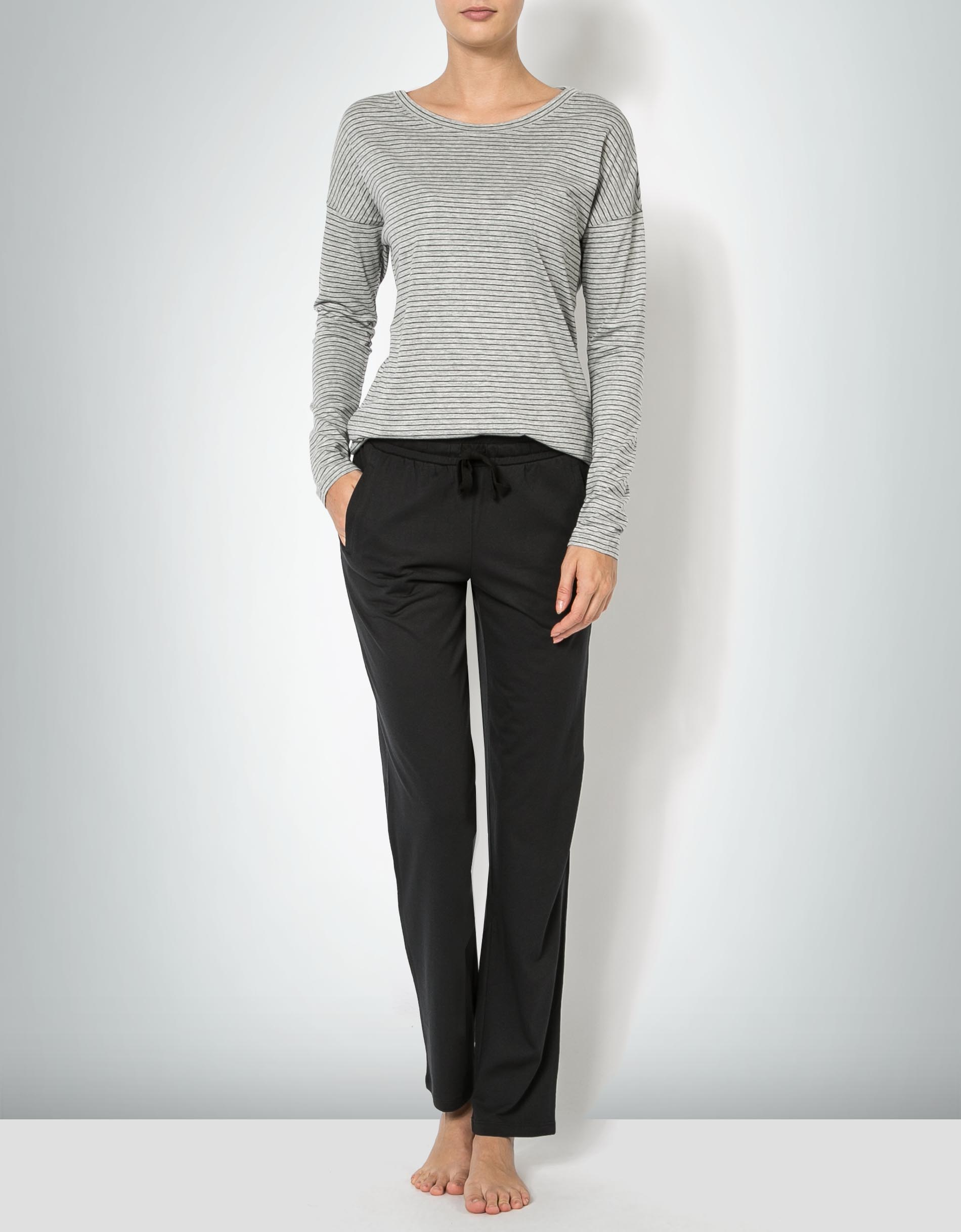 shoes for cheap classic fit release info on Marc O'Polo Damen Loungeset Pyjama im gestreiften Look ...