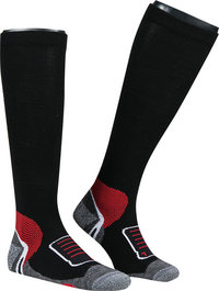 wapiti Skisocken Paar schwarz-rot