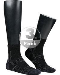 wapiti Trekkingsocken schwarz