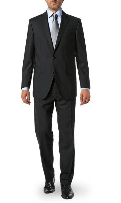 anzug regular fit schurwolle schwarz von carl gross. Black Bedroom Furniture Sets. Home Design Ideas
