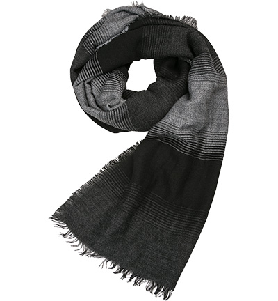 Strellson Schal STSC-Isak : Strellson Schal STSC-Isak  Herren in schwarz & grau aus Wolle