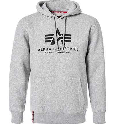 hoodie basic baumwolle grau meliert von alpha. Black Bedroom Furniture Sets. Home Design Ideas