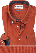 Barbour Hemd Morris dark clay MSH4049RE36