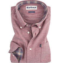Barbour Hemd Oxford dark red