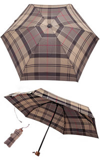 Barbour Handbag Umbrella winter tartan