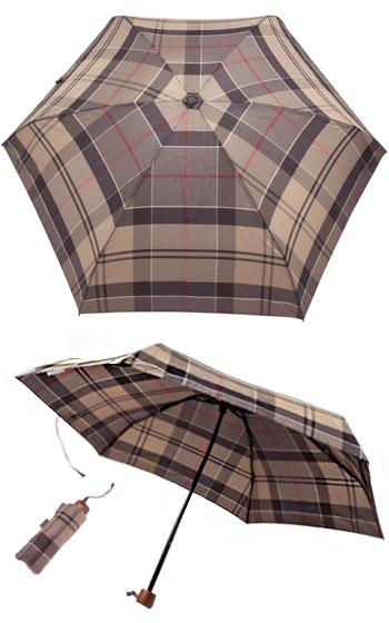 Barbour Handbag Umbrella winter tartan LAC0084TN75