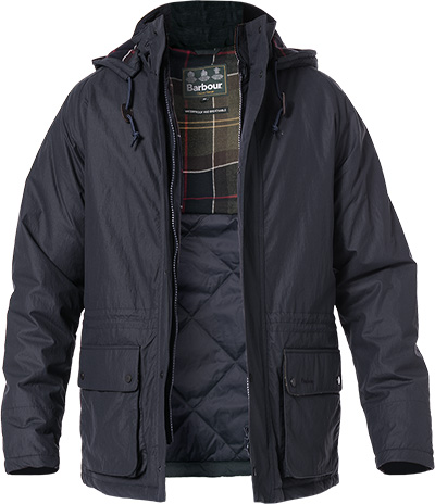 Barbour Jacke Woodfold navy
