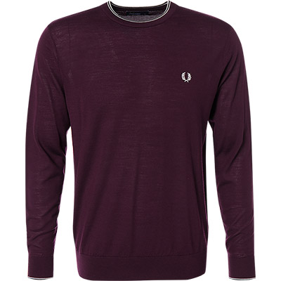 pullover merinowolle violett von fred perry bei. Black Bedroom Furniture Sets. Home Design Ideas