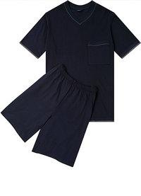 Seidensticker Kurz-Pyjama dunkelblau