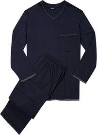 Seidensticker Pyjama dunkelblau