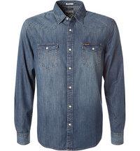 Wrangler Jeans-Hemd indigo