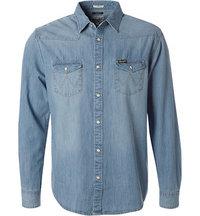Wrangler Jeans-Hemd light indigo