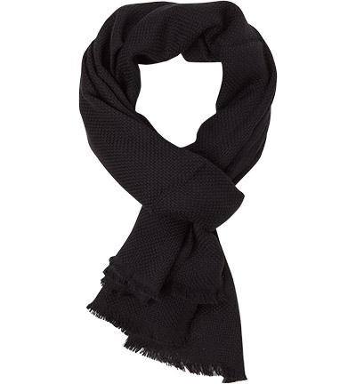 HUGO BOSS Schal Canno 50373872/001: HUGO BOSS Schal Canno 50373872/001 für Damen und Herren in schwarz aus Wolle
