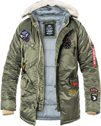 ALPHA INDUSTRIES Jacke N3-B Patch