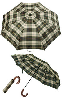 Barbour Telescopic Umbrella tartan