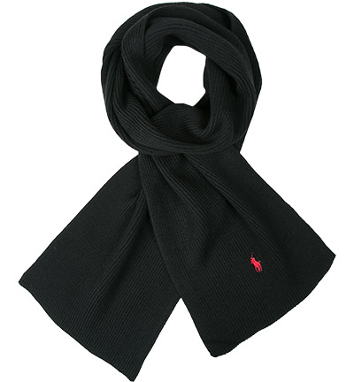 Polo Ralph Lauren Schal black 710568978005: Polo Ralph Lauren Schal black 710568978005 für Damen und Herren in schwarz aus Merinowolle