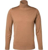 John Smedley Rollkragen Pullover Cherwell/camel