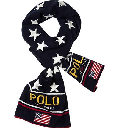 Polo Ralph Lauren Schal : Polo Ralph Lauren Schal  Herren in blau aus Merinowolle