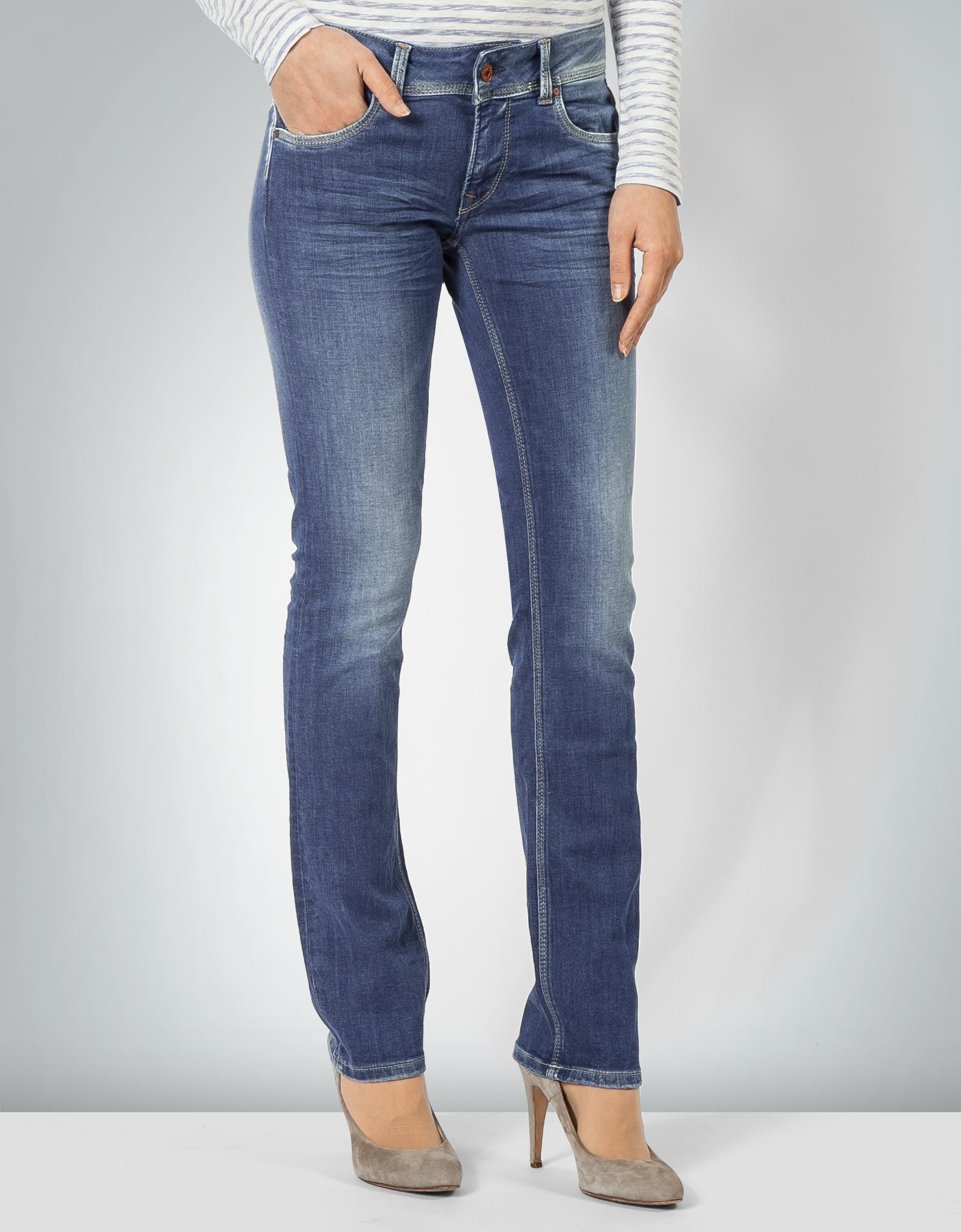 20cdd1f7022e Pepe Jeans Damen Saturn denim Jeans im Straight Fit empfohlen von Deinen  Schwestern