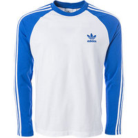 adidas ORIGINALS T-Shirt blau-weiß