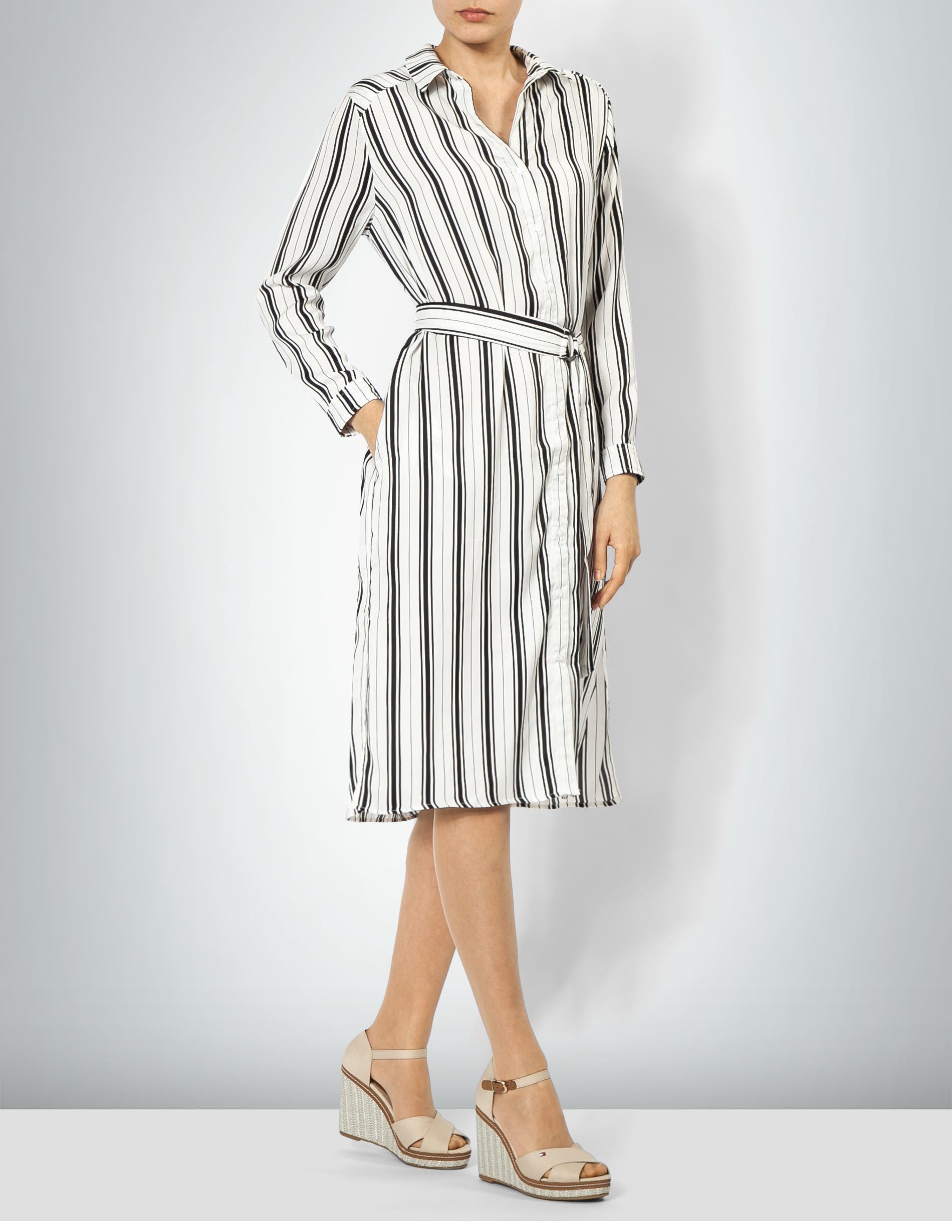 Pepe Jeans Damen Kleid Maria Hemdblusen Im Streifen Look Empfohlen