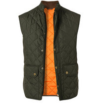 Barbour Weste Lowerdale dark green