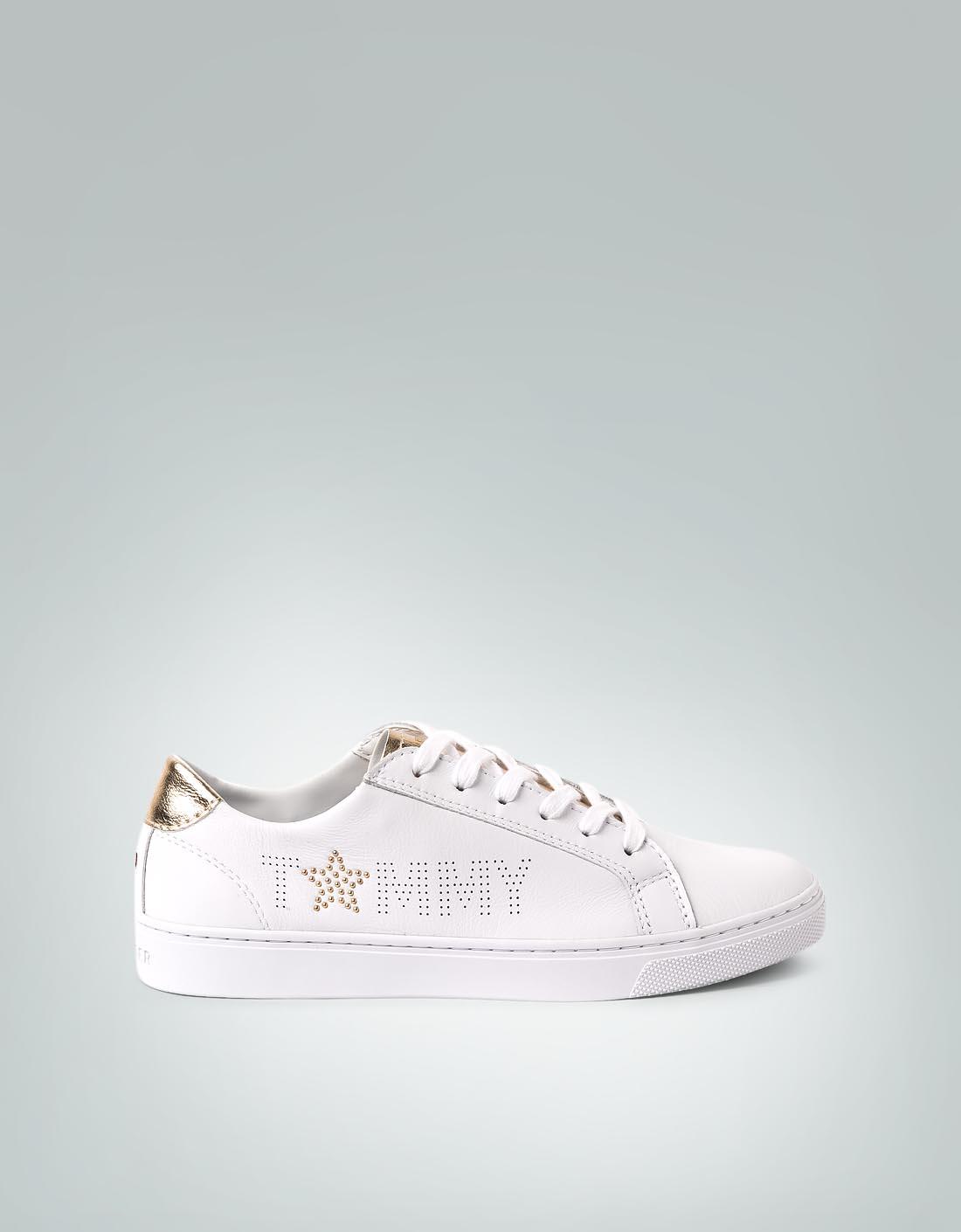 sports shoes 4412e 6e3c4 Tommy Hilfiger Damen Schuhe Sneaker mit Gold-Effekten ...