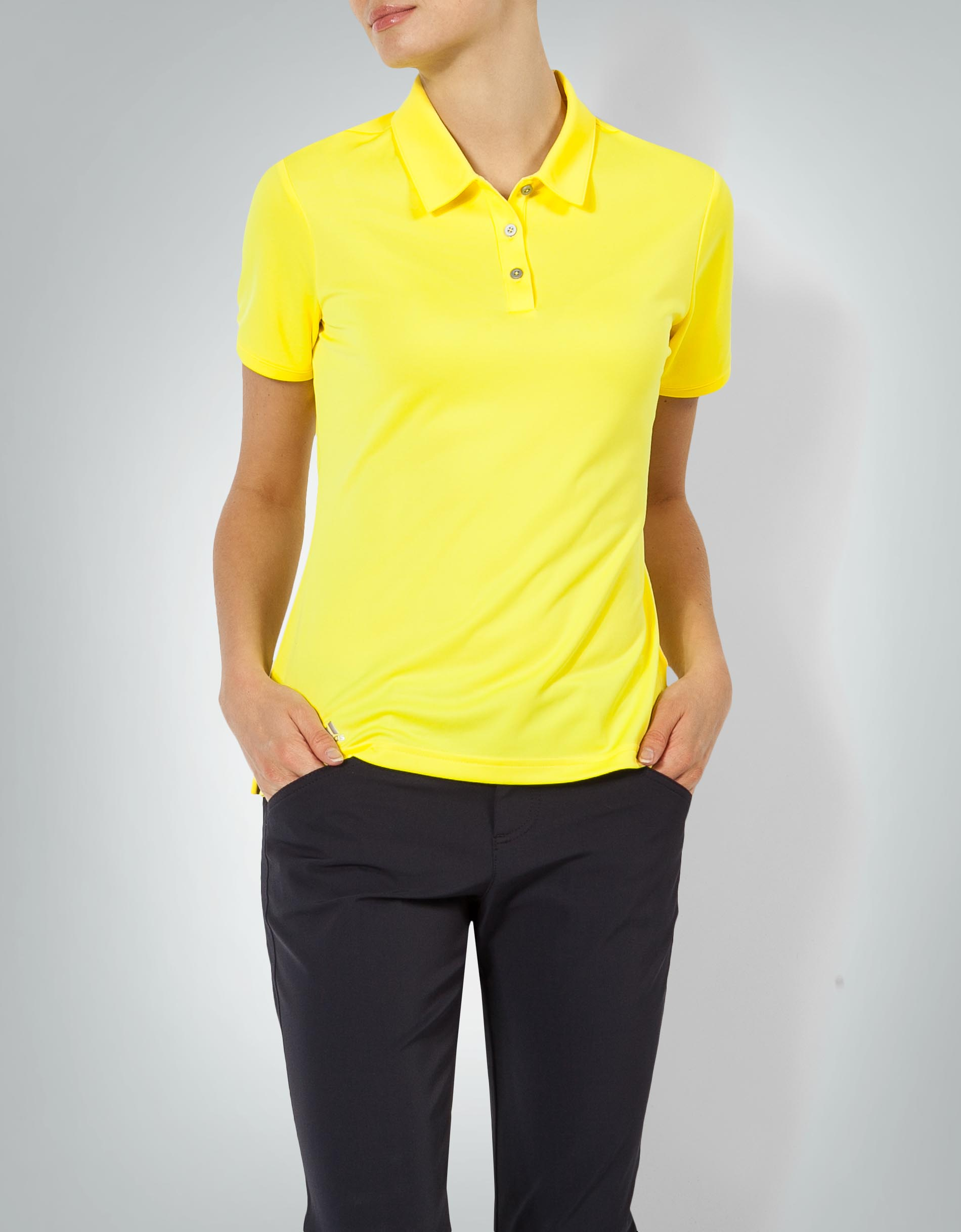 adidas Golf Damen Polo Shirt gelb im klassischen Look