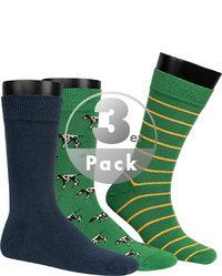 Barbour Socken 3er Pack green