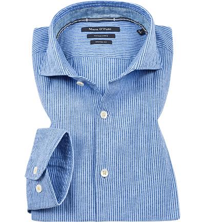 Artikel klicken und genauer betrachten! - Hemd aus Leinen von Marc O'Polo Ein modernes Freizeithemd, das mit seinem Leinen-Mix ein angenehmes Tragegefühl garantiert. Ein körperbetonter Schnitt, sowie modernem Haikragen verleihen Ihnen einen smarten Look. | im Online Shop kaufen