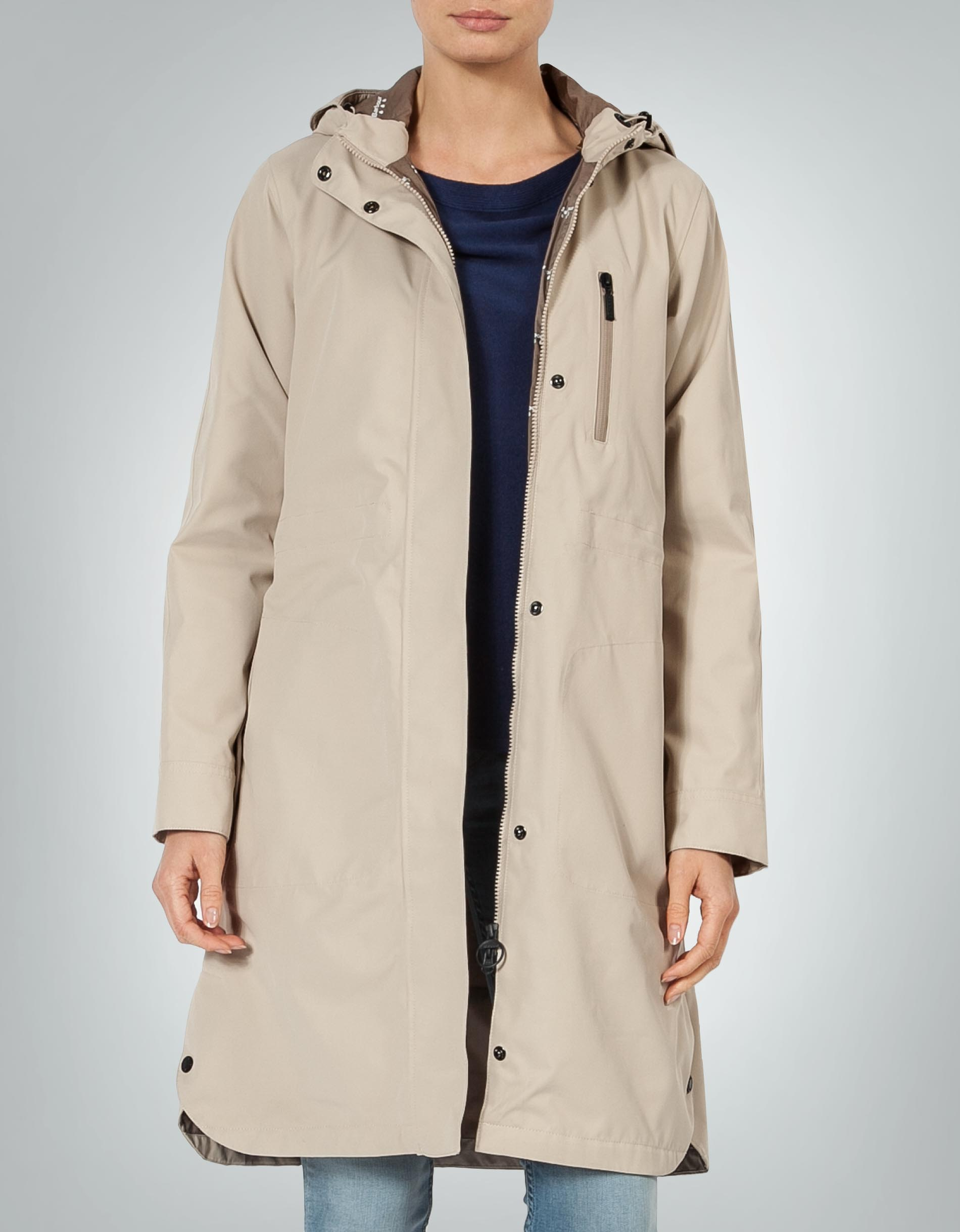 low priced dd48b c1320 Barbour Damen Mantel beige aus Funktionsmaterial empfohlen ...