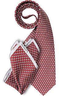 LANVIN Set Krawatte + Einstecktuch