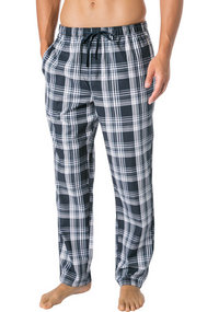 b41fc0058ef21c Pyjama, Baumwolle, nachtblau. Schiesser Mix & Relax Hose lang 163842/835