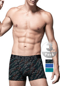 LACOSTE Colours Cotton Trunk 3er Pack
