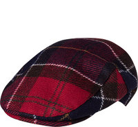 Barbour Moons Tweed Cap red tartan